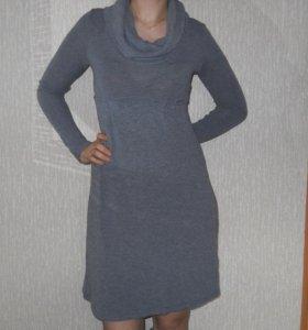 Платье серое тёплое