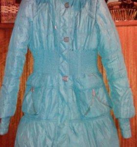 Теплая зимняя женская куртка 46 р.