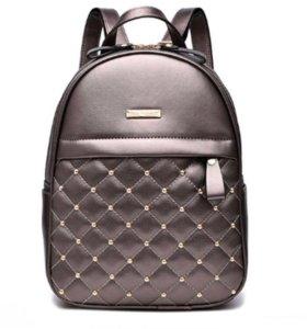 Шикарный кожаный рюкзак 🎒 Новый
