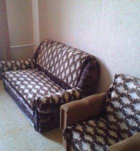 Диван+ кресло б/у