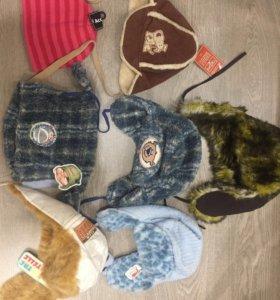 Новые детские шапки зимние
