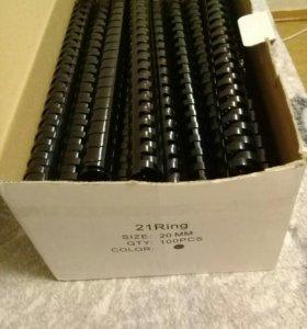 Пружины пластиковые черные