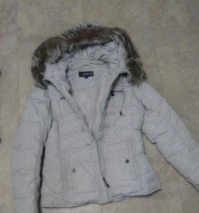 Куртка зимняя, натуральный мех