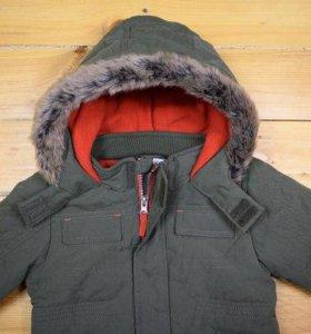 Новая теплая куртка, непродуваемая, подкладка флис