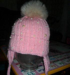 Под заказ вязаная шапочка с ушками