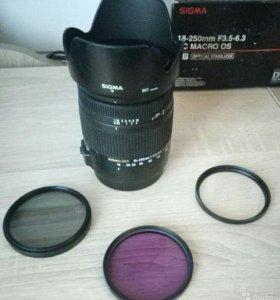 Объектив Sigma AF 18-250 mm F 3.5-6.3 для Canon