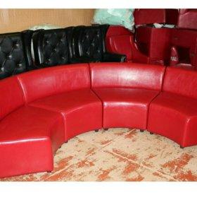 Эркерный диван в качественной коже
