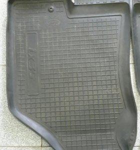 Резиновый коврик в багажник для hyundai ix35