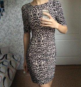Платье с леопардовым принтом kira plastinina