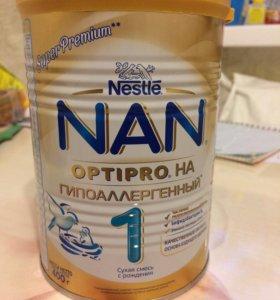 Смесь Nan гипоаллергенная новая банка