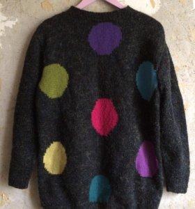 Винтажный свитер оверсайз с люриксом 90ые