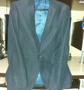 Пиджак Новый 44-46р темно-синий.