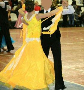 Платье для бальных танцев- стандарт Ю1