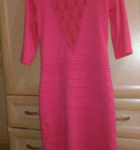 Платье,цвет кораловый