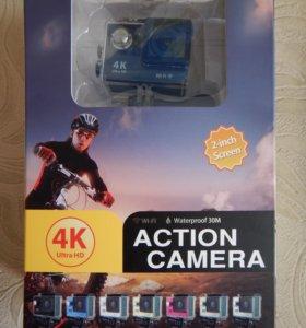 Экшн-камера, 4К, Wi-Fi