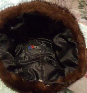 норковая шапка коричневая