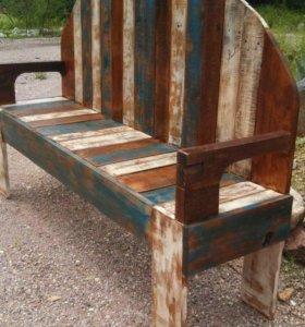 Скамейки, диваны, кресло и столы из полетов