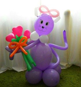 Фигуры из воздушных шаров, гелиевые шары