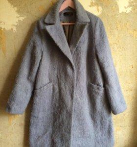 Мохеровое шерстяное пальто кокон Topshop оверсайз