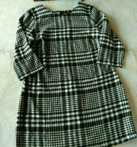 Теплое платье 52-54