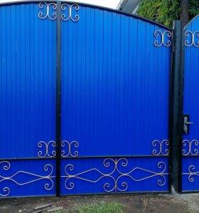 Ворота готовые цвет любой