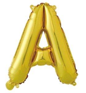 Воздушный шар буква А фольгированная 40 см