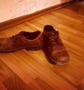 Кожаные ботинкт