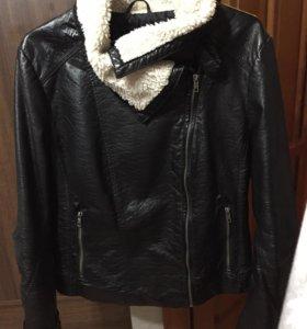 Кожаная куртка-косуха H&M