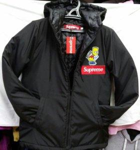 Куртка зимняя Supreme новая.Черная