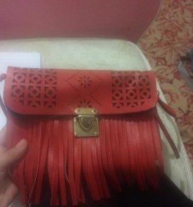 Сумка для девочки красная покупайте