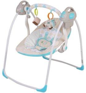 Электрокачели Baby Care Riva с адаптером Синий