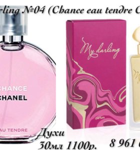 Духи My Darling №04 (Chance eau tendre от Chanel)