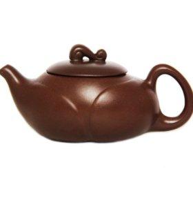 Набор чайник глиняный и пиала глиняная.