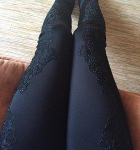 Чёрные брюки на Флисе