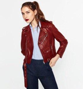 Куртка из кожзаменителя Zara