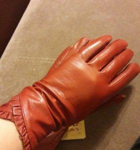Перчатки женские.кожа6,5