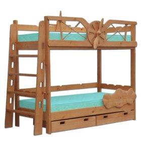 Кровать двухъярусная Самолёт