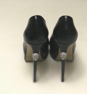 Туфли на высоком каблуке, кожаные Elmonte