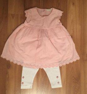 Платье и легинсы для девочки