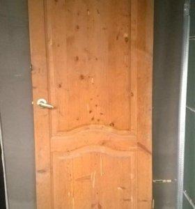 Межкомн дверь б/у без коробки для дачи или времянк