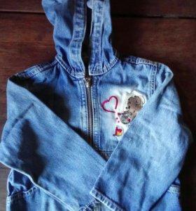 Детская куртка-комбез 4 года