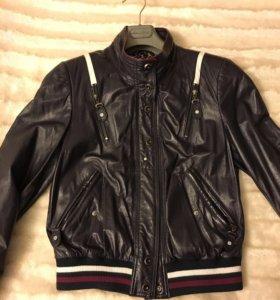 Куртка кожаная женская, размер S