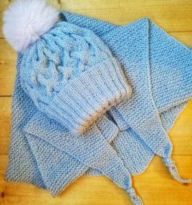 Зимний комплект (шапка+бактус)