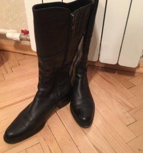 Зимние новые кожаные женские сапоги 38 размер