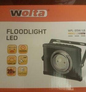 Прожектор светодиодный wolta новый