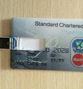 USB флеш карта 16 гб. В форме кредитки