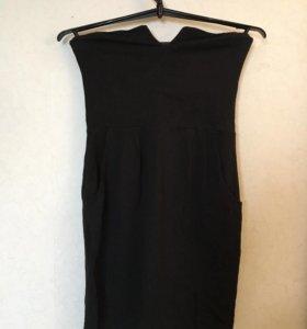 Чёрное платье без лямочек