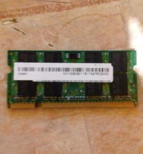 Kingston 1gb для ноутбука (DIMM 1)