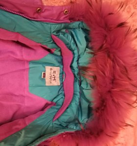 Пальто пуховик для девочки рост 98-110