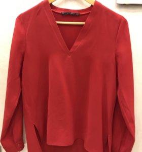 Новая блузка Zara красная